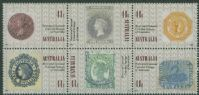 AUS SG1247a 150th Anniversary of the Penny Black block of 6